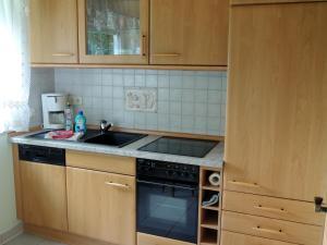 Küche/Küchenzeile in der Unterkunft Gästehaus Am Hirtenberg