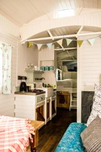 A kitchen or kitchenette at Burren Glamping