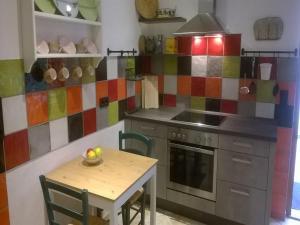 Küche/Küchenzeile in der Unterkunft Ferienwohnung Reichart