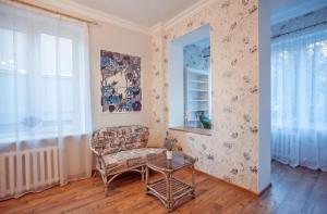 Гостиная зона в Apartment Na Krasnoy