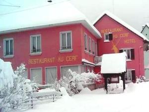 Hôtel Restaurant au Cerf during the winter