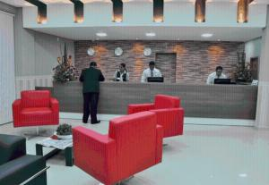 The lobby or reception area at Skala Traveling Hotel