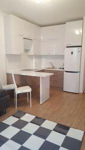 Кухня или мини-кухня в Apartment on Admirala Cherokova