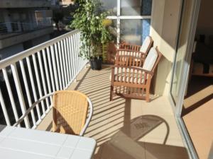 A porch or other outdoor area at Apartamento REX