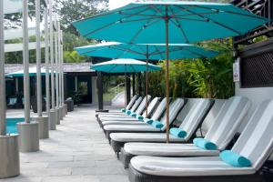 A patio or other outdoor area at Bel Jou Adults Only - All Inclusive