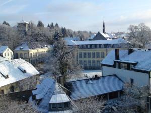 Design-Hotel Zur Abtei during the winter