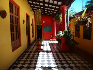 A porch or other outdoor area at El Nómada Hostel
