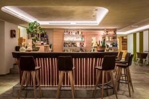 The lounge or bar area at Hotel Restaurant Langgenhof