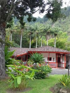 A garden outside Hostal Rio Arabia - Valle De Cocora HOTEL