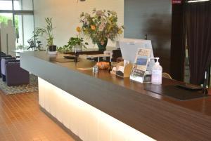 The lobby or reception area at Hotel Biwako Plaza