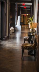 The lobby or reception area at The Bruce Hotel