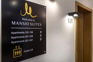 A certificate, award, sign or other document on display at Mansio Suites Basinghall
