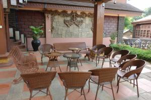 The lounge or bar area at Bagan Princess Hotel