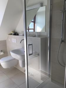 Ванная комната в Hotel Restaurant Haus Vorst