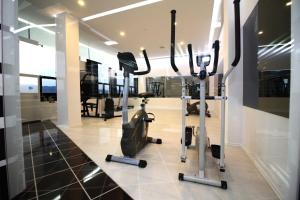 The fitness centre and/or fitness facilities at Hotel International Prishtina & Spa