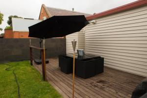 A porch or other outdoor area at Sovereign Hideaway