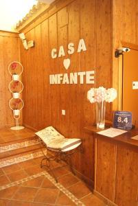 El vestíbulo o zona de recepción de Casa Rural El Infante