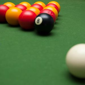 A pool table at YHA Sheringham