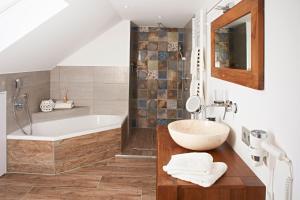 Ein Badezimmer in der Unterkunft Albloft