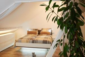 Ein Bett oder Betten in einem Zimmer der Unterkunft Albloft