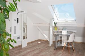 Küche/Küchenzeile in der Unterkunft Albloft
