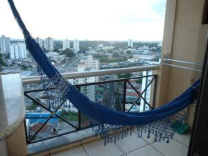 A balcony or terrace at Flat Apart-Hotel em Goiânia