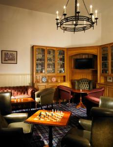 A seating area at Stirling Highland Hotel- Part of the Cairn Collection