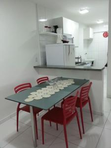 A cozinha ou cozinha compacta de Praia de Pajuçara Climatizado