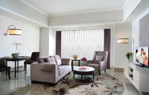 The lounge or bar area at Ascott Jakarta