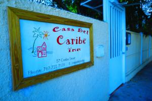 A certificate, award, sign, or other document on display at Casa del Caribe Inn