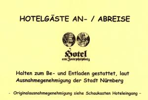 A certificate, award, sign or other document on display at Hotel Am Josephsplatz