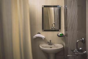 A bathroom at Hotel Meenakshi Udaipur