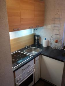 Küche/Küchenzeile in der Unterkunft Ferienwohnung Mey