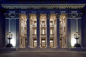 The facade or entrance of Four Seasons Hotel London at Ten Trinity Square