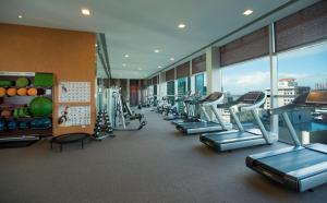The fitness centre and/or fitness facilities at Stamford Plaza Auckland