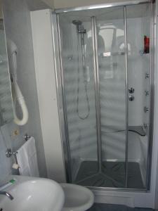 Koupelna v ubytování Hotel Venezia