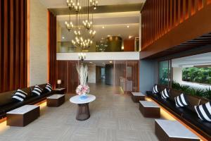 The lobby or reception area at Hisea Huahin Hotel
