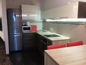 Кухня или мини-кухня в Apartment Park Gorkogo