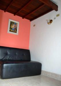 A seating area at Pousada Em Busca do Sol