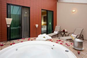 A bathroom at Royal Golden Hotel - Savassi