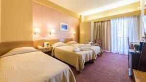 Ένα δωμάτιο στο Queen Olga Hotel