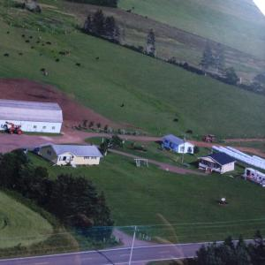 A bird's-eye view of Morrows Farm Cottages