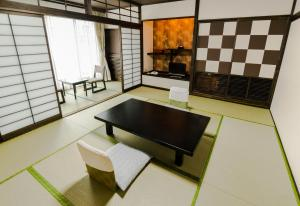 A seating area at Ishicho