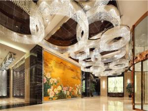 The lobby or reception area at Minyoun Chengdu Dongda Hotel-Member of Preferred Hotel & Resorts