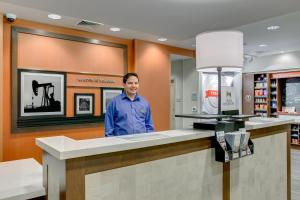 The lobby or reception area at Hampton Inn & Suites North Houston Spring