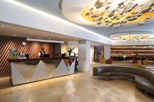 The lobby or reception area at Ensana Thermal Aqua