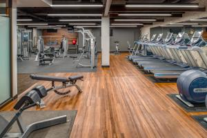 The fitness center and/or fitness facilities at Hilton Portland Downtown
