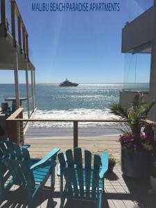 A balcony or terrace at Malibu Private Beach Apartments