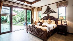 Voodi või voodid majutusasutuse Saifon Villas 5 Bedroom Pool Villa - Whole villa priced by bedrooms occupied toas
