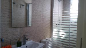 A bathroom at Casa Los jardines de Lola